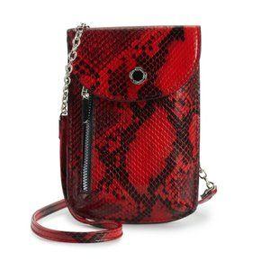 Apt. 9 Mar Crossbody Wallet - Red Snake